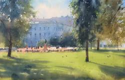 Morning in Alexandrovsky garden