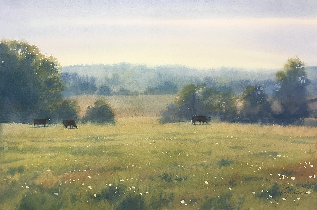 Morning in the meadow