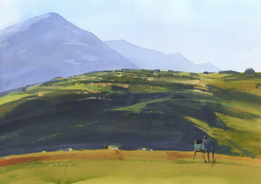 Художник и горы