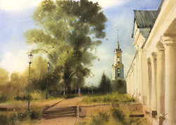 Suzdal. View along the market rows