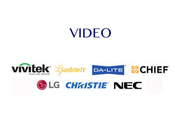 video proyector blanco