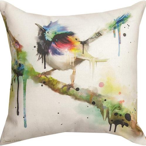 Painted Bird Indoor/Outdoor Pillow