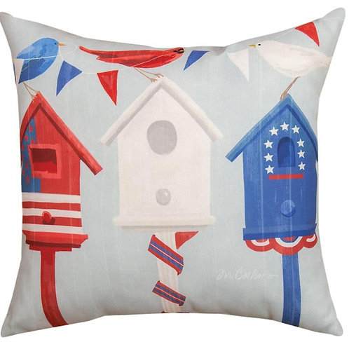 4th of July Birdhouse Pillow