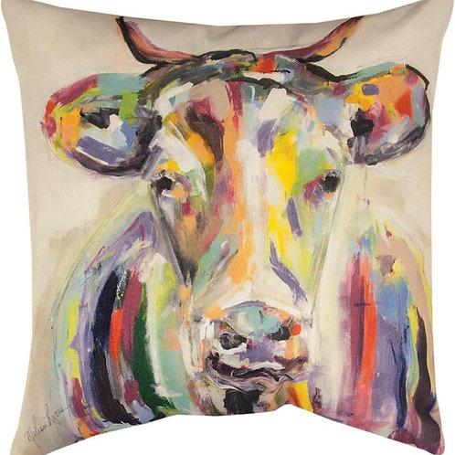 Painted Cow Indoor/Outdoor Pillow