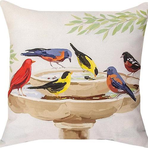 Bird Bath Indoor/Outdoor Pillow