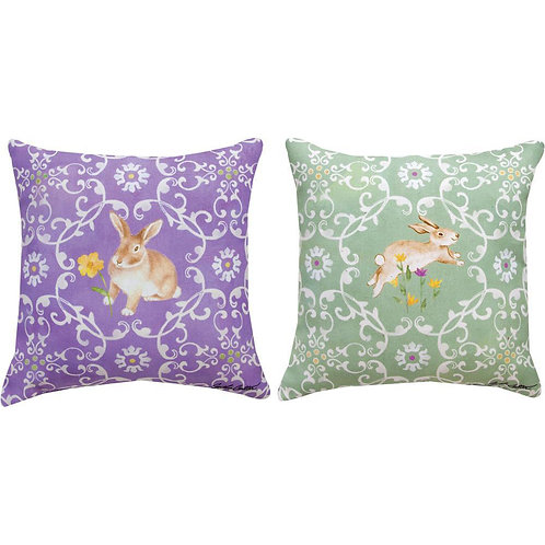 Purple/Green Easter Bunny Pillow