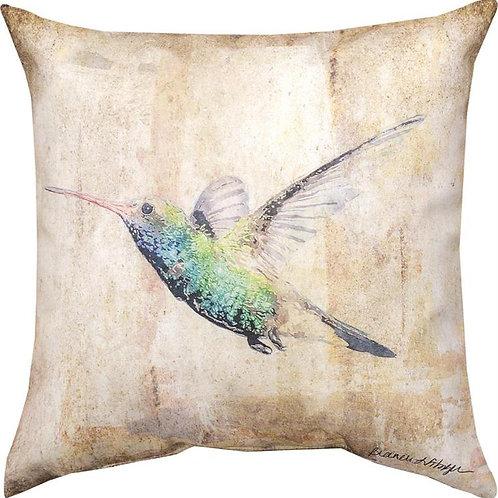 Green Hummingbird Indoor/Outdoor Pillow