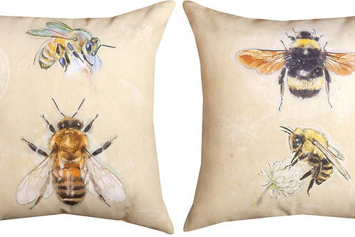 Bee Indoor/Outdoor Pillow