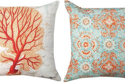 Coral Indoor/Outdoor Pillow