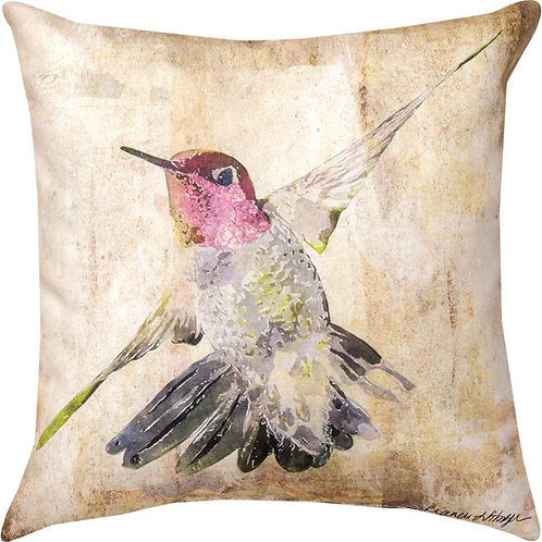 Pink Hummingbird Indoor/Outdoor Pillow