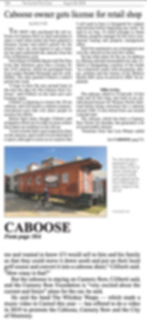 Cannery Row Caboose Pine Cone Article Restoration
