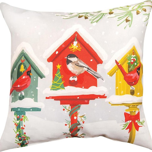 Holiday Birdhouse Pillow