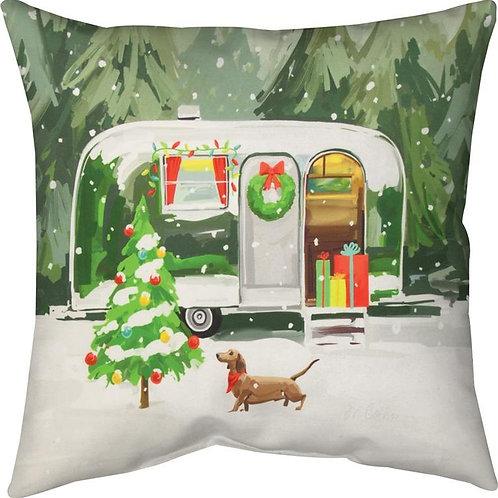 Christmas Trailer Indoor/Outdoor Pillow