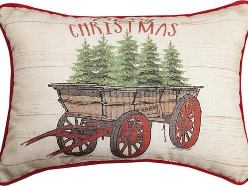 Christmas Wagon Pillow