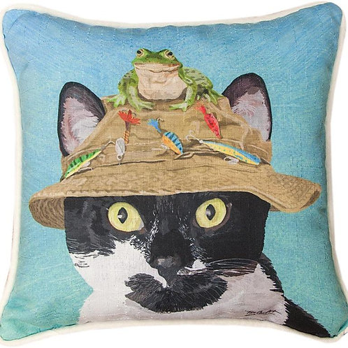Cat and Frog Pillow