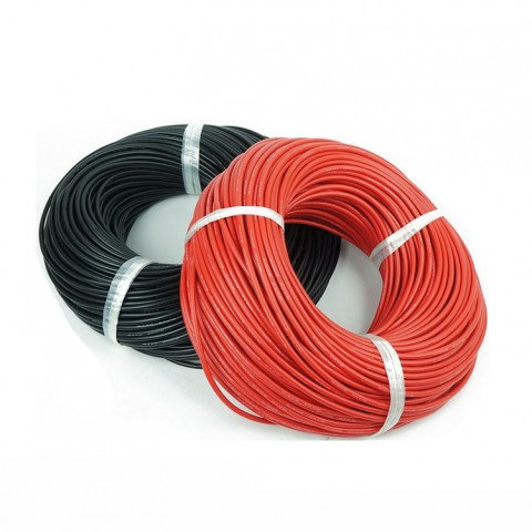 25ft Black & Red CCA Wire w/o Reel (Options: 14 to 18Ga)