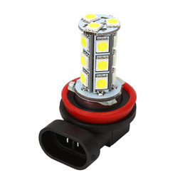 LED Bulb, H11, 18 LED, White, Pair