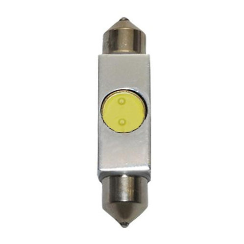 LED Festoon Bulb, Length: 38mm, 1 LED HP, White, Pair