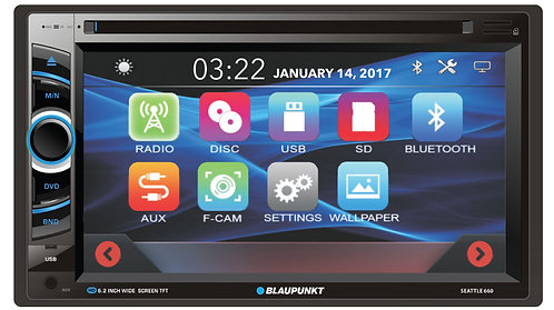 Blaupunkt SEATTLE 660 6.2-Inch Touch Screen Multimedia Receiver with Bluetooth