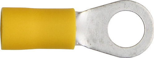 Ring terminal 100 Pack/12-10ga Yellow (Options: #8 to 5/16)