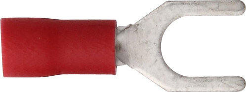 Spade terminal/22-18Ga, Red, 100Pack (Options: #6 to #10)