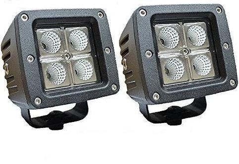 LED Square Light, 4 Cree, 3X3 (Options: Flood & Spot)
