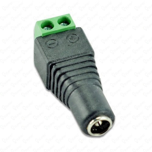 Converts bare wires to Female DC plug(Female DC wire plug w/o wire)