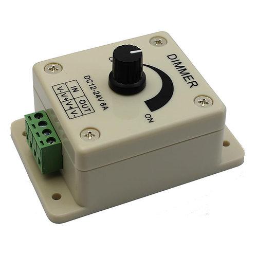 LED Light Knob Dimmer, DC12V, 8A