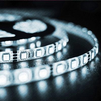 LED Strip, 5050 SMD, 5M, Cold White, Option: 150 & 300LED, Waterproof, PCB Black