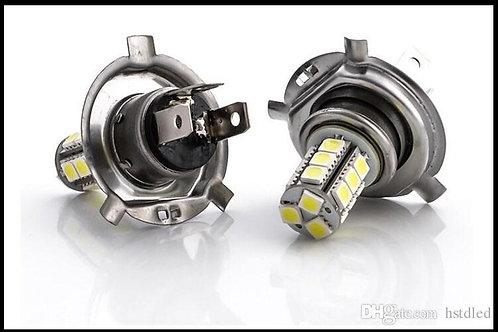 LED Bulb, H4, 18 LED (Options: White & Yellow), Pair