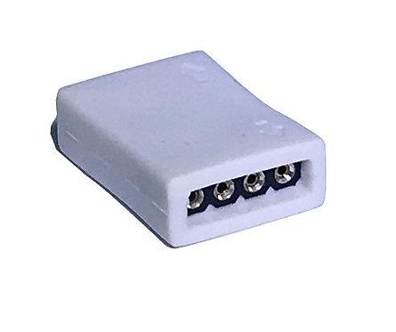 """RGB 4 pin/10mm width strips, IP67, White (Options:  I""""L""""T""""X"""" Shape)"""