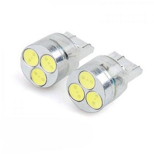 LED Bulb, 7443, 3 LED, White, Pair