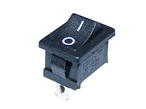 Rocker Switch, 2 Pin, On/Off, Install size: 19x12mm