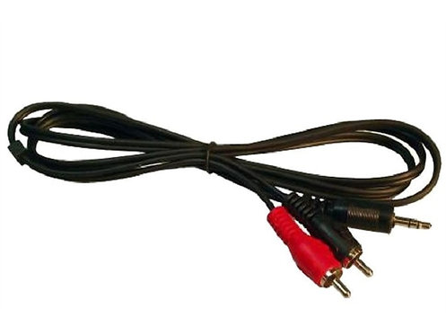 3.5mm to 2 RCA Plugs, 5 Ft cable