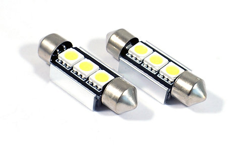 LED CanBus Bulb 39mm, 3 LED, White