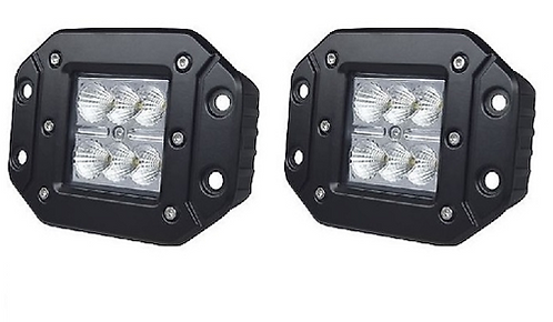 "LED Square Light, 6 Cree, 3X3"" Flush Flood"