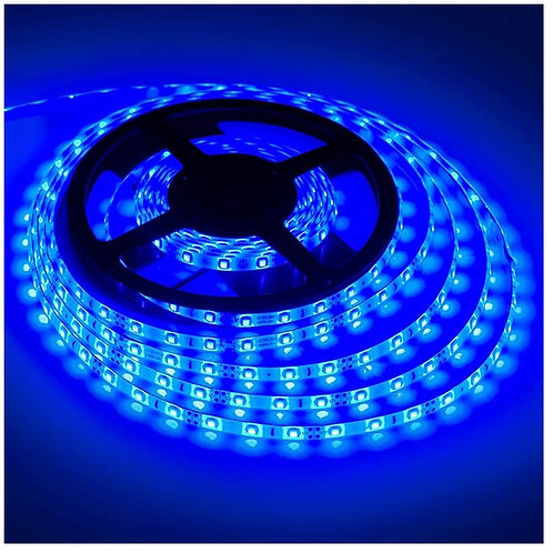 LED Strip, 3528 SMD, 600LED, Blue, Waterproof