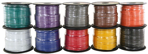 100ft CCA Wire 10 Colors Per Set (Options: 14 to 18Ga)