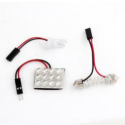 LED Dome Panel Light, 12 LED, White, Panel Size: 34x25, per Pair