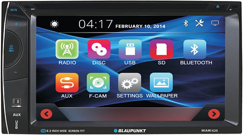 Blaupunkt 6.2-inch Touch Screen Receiver with Bluetooth and Remote