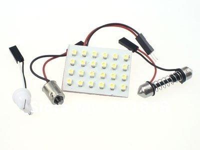 LED Dome Panel Light, 3528x24 LED, White, Panel Size: 40x32mm, per Pair