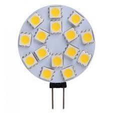 LED Dome Panel Light, 5050x15 LED, White, Round Diameter: 45mm, per Pair