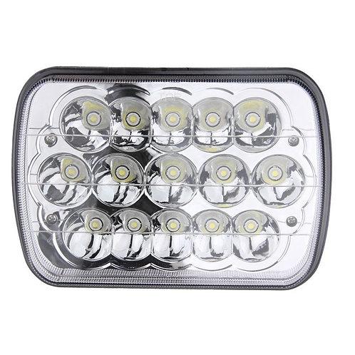 Square LED Light, 25 & 45W, Hi-Low. H4.per PC (Options: 4 & 7in)