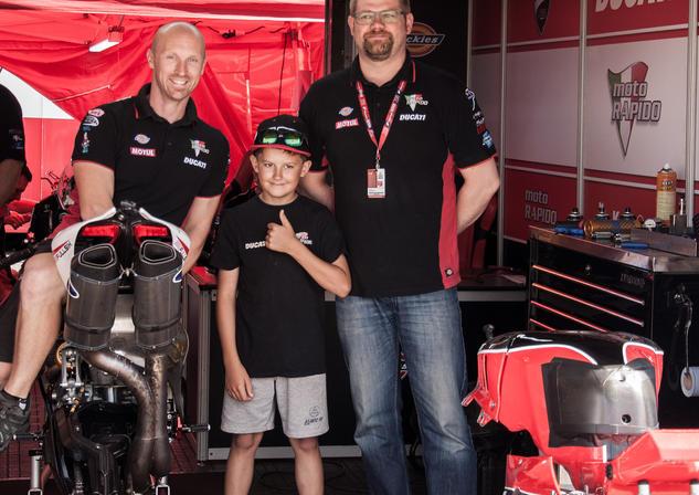 Ryan with Moto Rapido