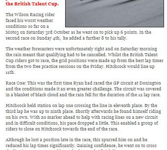 Press coverage after Donington Park Circuit BSB round