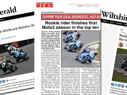 Hitchcock coverage in 3 media titles after maiden season in Moto3 British Talent Cup