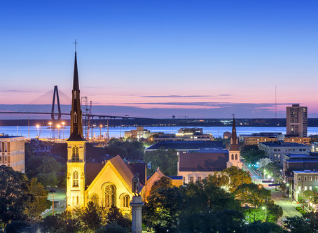 Booking in Charleston, SC, for September 2020