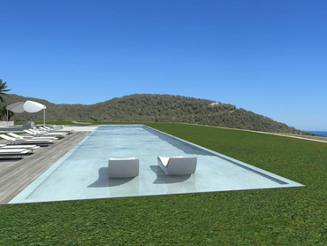Spain: Hilltop Villa Completed with Panoramic Views of the Mountains in Sant Josep, Ibiza