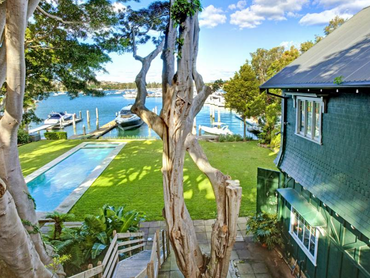 Australia: The Boatshed in 29A Wunulla Road, Sydney, New South Wales