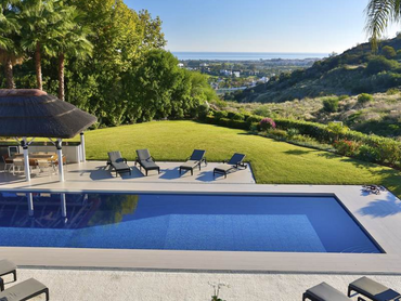 Spain: Beautiful & Contemporary Villa Offering Lovely Sea Views in a Gated Community in Benahavi